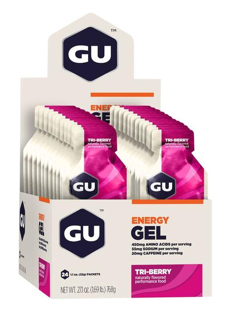 GU Energy Gel Box Tri Berry 24 x 32g